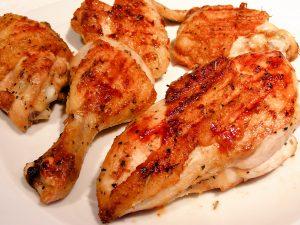 تفت دادن مرغ